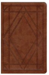 ESV Single Column Legacy Bible, TruTone, Chestnut with Wood Panel Design
