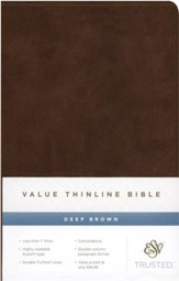 ESV Value Thinline Bible, TruTone, Deep Brown