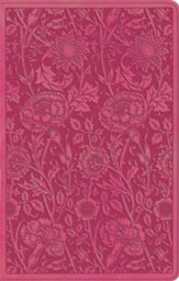 ESV UltraThin Bible, TruTone, Berry with Floral Design