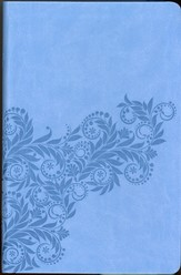 KJV Gift Bible: Imitation Leather Cornflower Blue Foliage