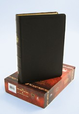 The King James Study Bible, 400th Anniversary Edition--genuine leather, brown - Slightly Imperfect