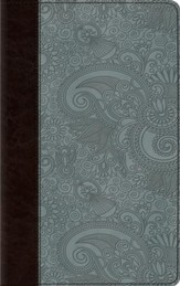 ESV Thinline Bible, TruTone Imitation Leather, Chocolate/Blue, Garden Design