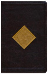 ESV Thinline Bible, TruTone Imitation Leather, Brown/Goldenrod, Diamond Weave Design
