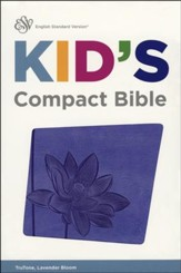 ESV Kid's Compact Bible, TruTone Imitation Leather, Lavender Bloom - Slightly Imperfect