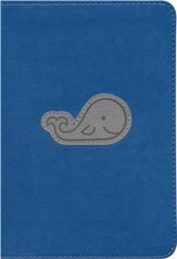 ESV Kid's Compact Bible, TruTone Imitation Leather, Deep Blue Whale
