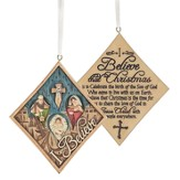 I Believe Nativity Ornament