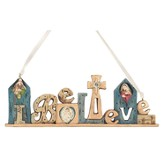 I Believe Nativity Figurine Ornament