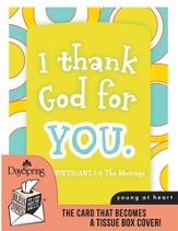 I Thank God For You, Encouragement Card and Tissue Box Cover