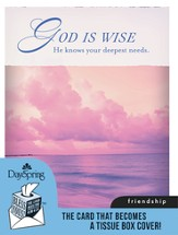 God Is Faithful, Friendship Card and Tissue Box Cover