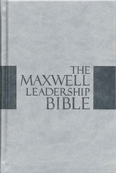 The NKJV Maxwell Leadership Bible-Briefcase Edition, Leathersoft Over Board Dove Gray - Slightly Imperfect