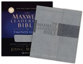 The NKJV Maxwell Leadership Bible, TakeNote Edition, Leathersoft Dove Gray - Slightly Imperfect