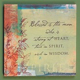 Blessed is the Man Plaque