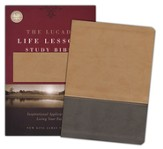 The NKJV Lucado Life Lessons Study Bible, Leathersoft Cafe au Lait/ StormCloud Gray Indexed