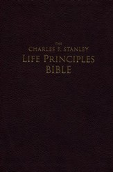 NASB Charles F. Stanley Life Principles Bible, Large Print Imitation leather, Burgundy (indexed)