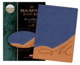The NKJV MacArthur Study Bible, Indexed, Revised and Updated, Leathersoft, Butterscotch/Blue Jay
