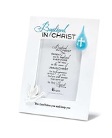 Baptized in Christ Photo Frame, White