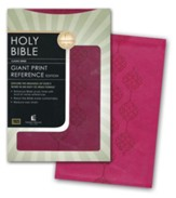 KJV Giant Print Reference Bible, Leathersoft, Cranberry