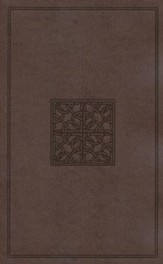ESV Holy Bible, Value Edition, TruFlat, Walnut, Celtic Imprint Design