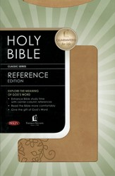 NKJV Personal Size Reference Bible--soft leather-look, brown sugar
