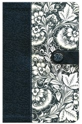 KJV Ultraslim Bible, Leathersoft, black/white