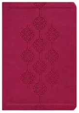 KJV Giant Print Center Column Reference Bible, Leathersoft, cranberry