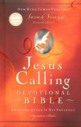 NKJV Jesus Calling Devotional Bible: Enjoying Peace in His Presence, Padded Hardcover, Multicolor - Slightly Imperfect