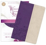 KJV The Woman's Study Bible, Leathersoft, grape/ivory - Imperfectly Imprinted Bibles