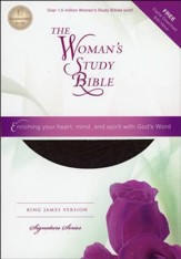KJV The Woman's Study Bible, Bonded leather, burgundy
