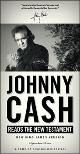 Johnny Cash Reads the NKJV New Testament, Audio Book on CD