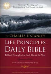NASB Charles F. Stanley Life Principles Daily Bible, Softcover, Multicolor - Slightly Imperfect