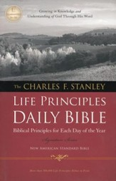 NASB Charles F. Stanley Life Principles Daily Bible, Hardcover
