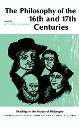 The Philosophy of the Sixteenth and Seventeenth Centuries