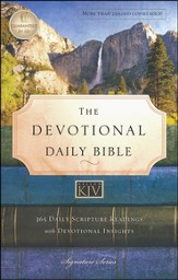KJV Devotional Daily Bible, Softcover, Multicolor