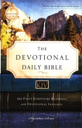 KJV Devotional Daily Bible, Hardcover, Multicolor