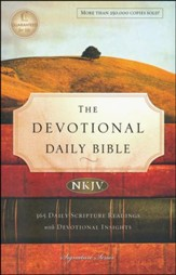 NKJV Devotional Daily Bible, Softcover, Multicolor - Slightly Imperfect