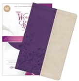 KJV The Woman's Study Bible, Leathersoft, grape/ivory indexed - Imperfectly Imprinted Bibles