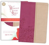 NKJV The Woman's Study Bible, Leathersoft, light cran and tuscany indexed