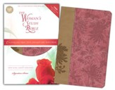 NKJV The Woman's Study Bible, Personal Size, Fabric/leathersoft, pink/café au lait