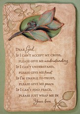 Dear God, Faith Plaque