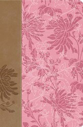 KJV The Woman's Study Bible, Fabric/leathersoft, pink/café au lait indexed