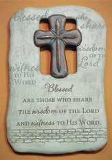 Blessed Are Those Who Share the Wisdom Plaque