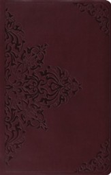 ESV Premium Gift Bible--soft leather-look, chestnut with filigree design