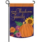 Give Thanks for Family Flag, Small