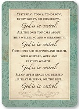 God is in Control Prayer Cards, Pack of 25