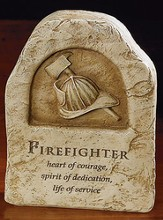 Firefighter, Heart of Courage Plaque