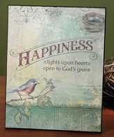 Happiness Alights on Hearts Plaque