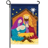 Nativity Applique Flag, Small