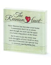 Reunion Heart Glass Tabletop Plaque