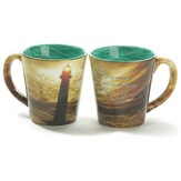 Lighthouse, The Lord Is My Rock Mug