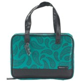 Paisley Purse Style Bible Cover, Black & Teal, Large